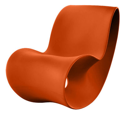 Rocking chair Voido - Magis orange en matière plastique