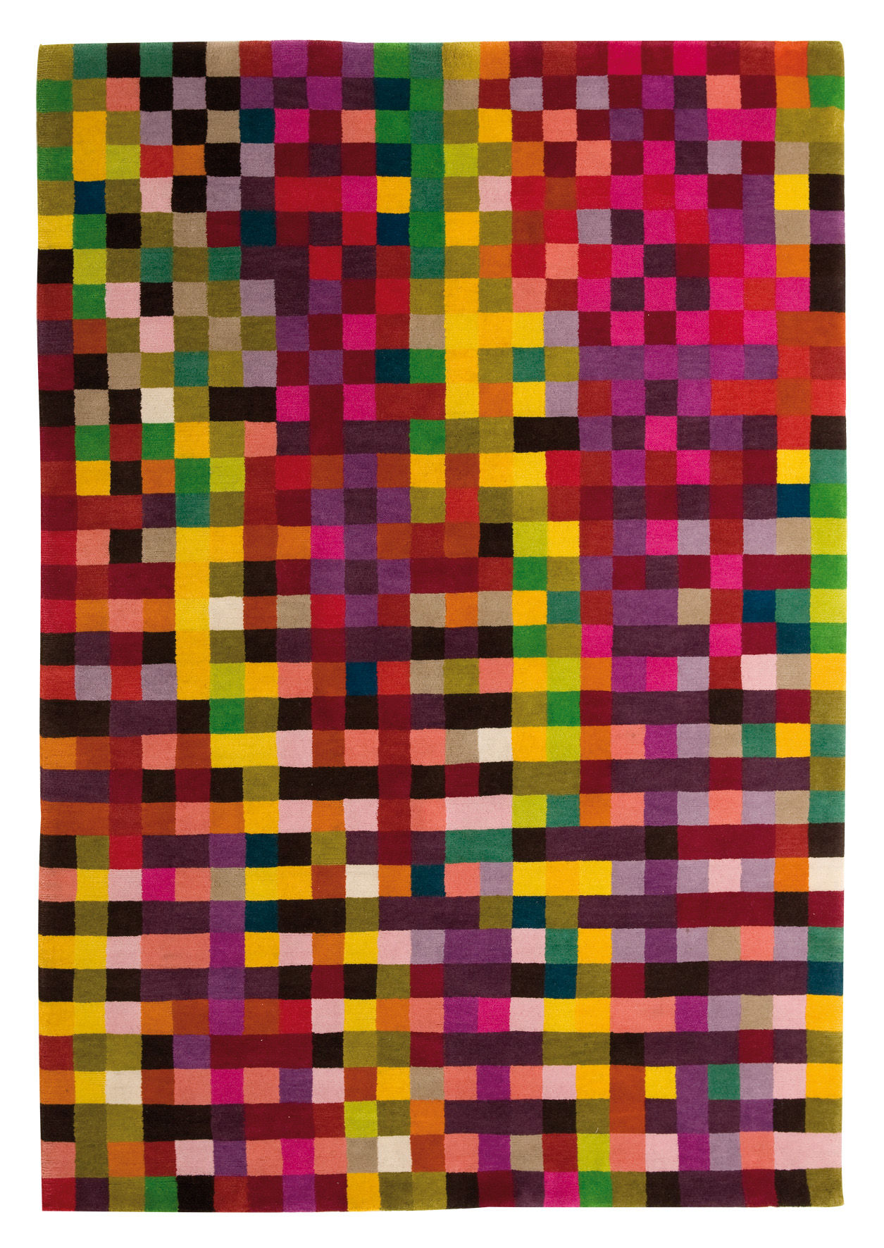 Furniture - Carpets - Digit 1 Rug - 170 x 240 cm by Nanimarquina - Vibrant colours / 170 x 240 cm - Wool