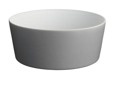Tischkultur - Salatschüsseln und Schalen - Tonale Salatschüssel - Alessi - Dunkelgrau / innen Weiß - Keramik im Steinzeugton