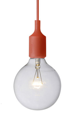 Luminaire - Suspensions - Suspension E27 - Muuto - Rouge - Silicone