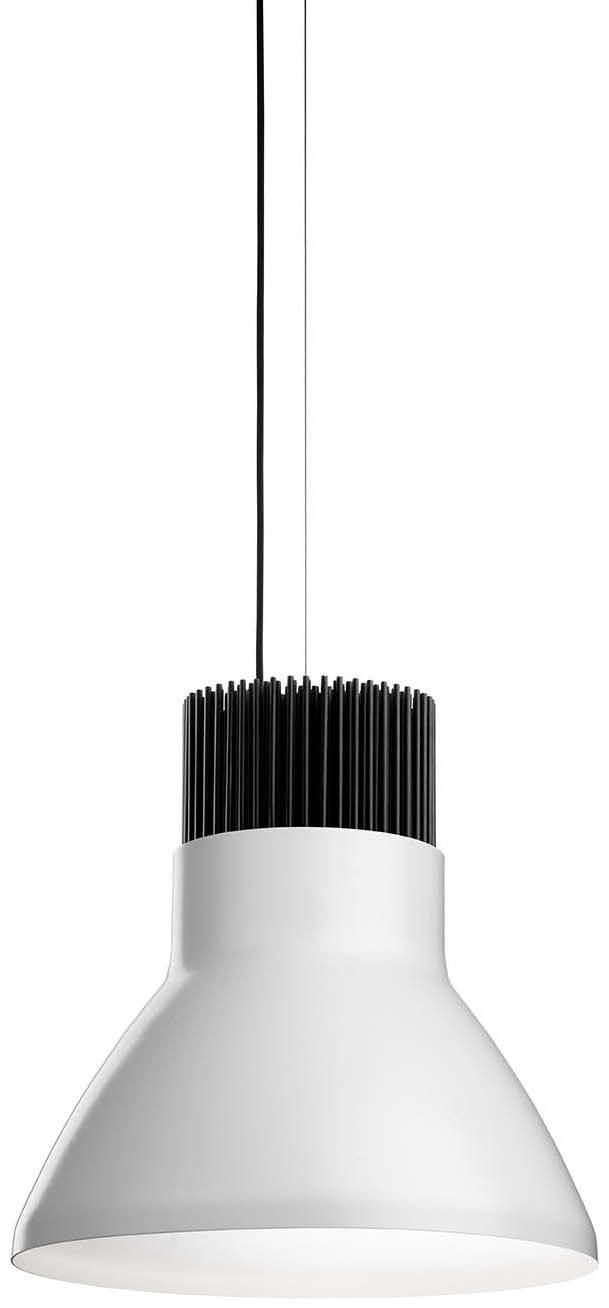 Luminaire - Suspensions - Suspension Light Bell LED - Flos - Blanc / Intérieur alu anodisé - Aluminium, Thermoplastique