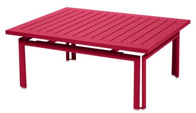 Table basse Costa / Aluminium - 100 x 80 cm - Fermob rose praline en métal
