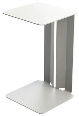 Table d'appoint Leste - Matière Grise blanc en métal