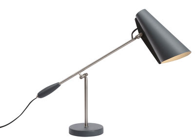 Lighting - Table Lamps - Birdy Table lamp - Reissue 1952 by Northern  - Grey / Steel arm - Painted aluminium, Steel