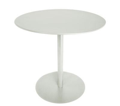 Table ronde FormiTable XS / Métal - Ø 80 cm - Fatboy gris clair en métal
