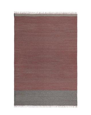 Tapis d'extérieur Mustache - SA / Tissé main - 300 x 400 cm - Kristalia rouge,brun en tissu
