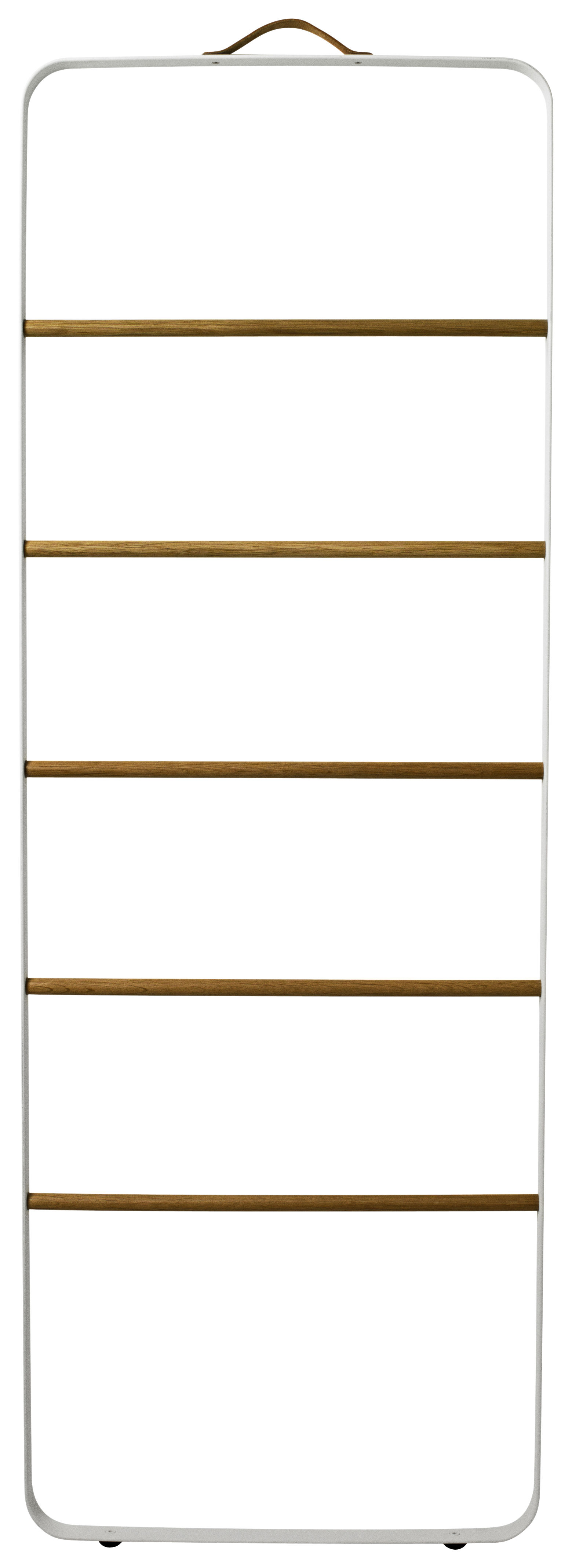 Furniture - Coat Racks & Pegs - Towel rail by Menu - White - Leather, Oak, Steel