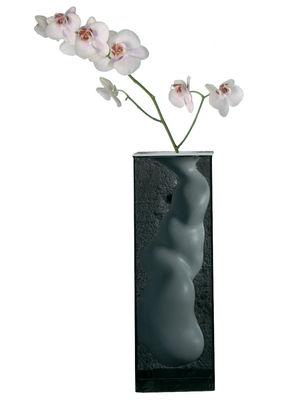 Decoration - Vases - Angelo Vase - H 60 cm by Glas Italia - Smoked glass - White - Ceramic, Tempered glass