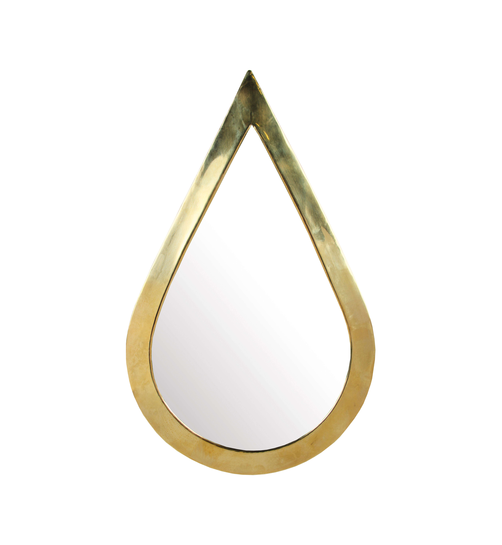 Decoration - Mirrors - Medina Teardrop Wall mirror - / 19 x 30 cm by & klevering - Drop / Brass - Glass, Metal