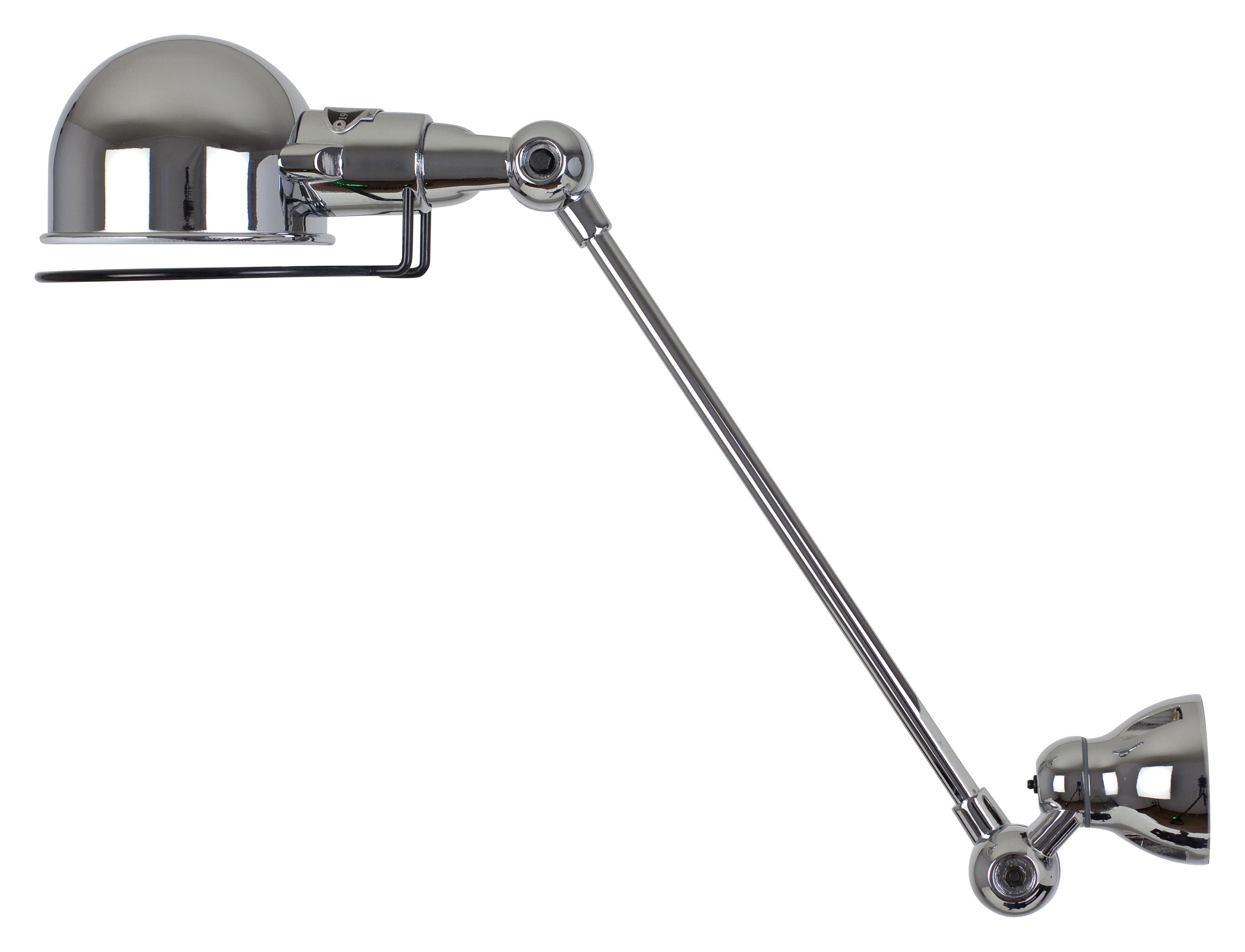 Illuminazione - Lampade da parete - Applique Signal - 1 braccio articolato - L 30 cm di Jieldé - Cromato brillante - Acciaio inox cromato