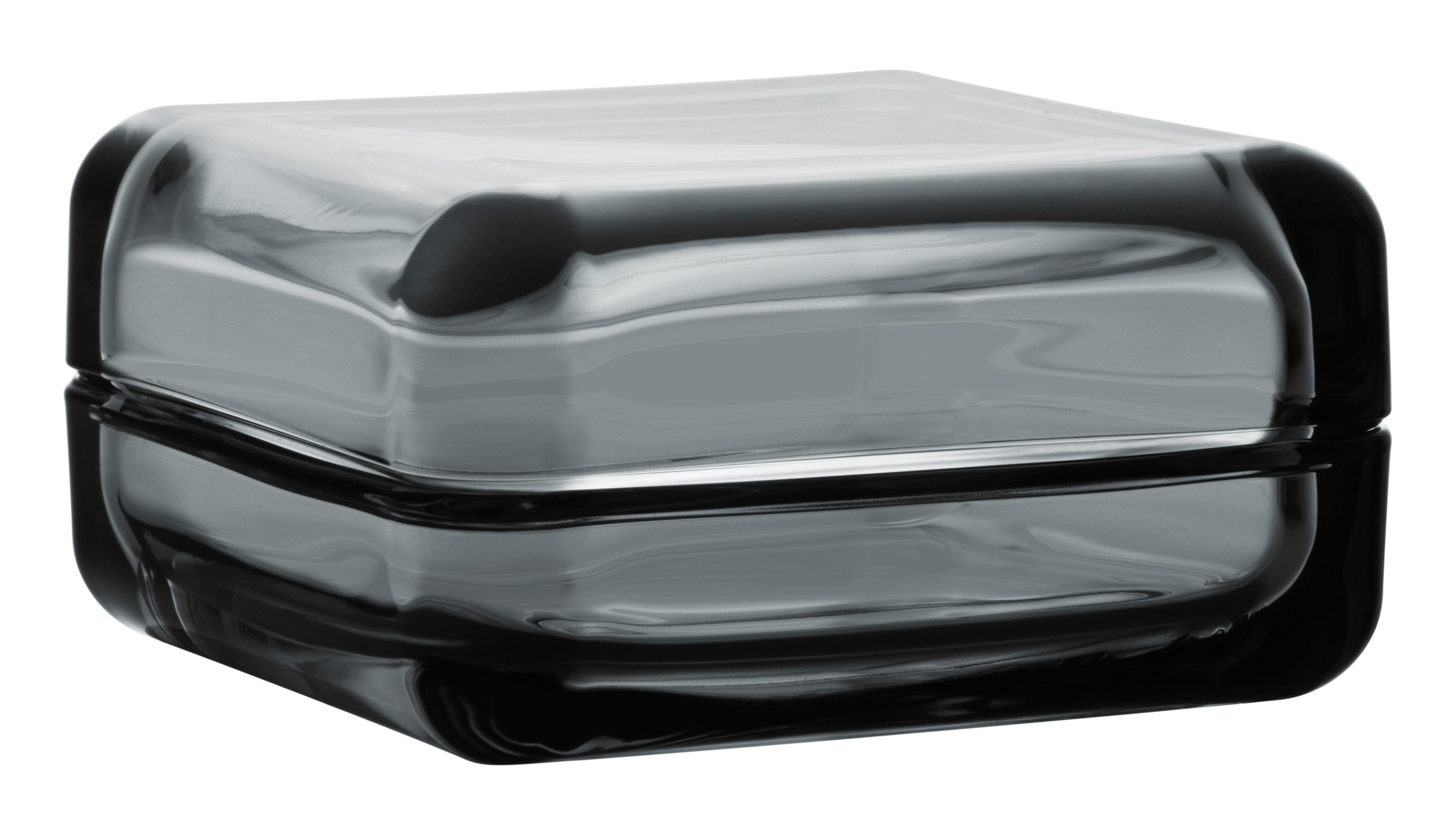 Déco - Boîtes déco - Boîte Vitriini / 11 x 11 cm - Iittala - Gris - Verre