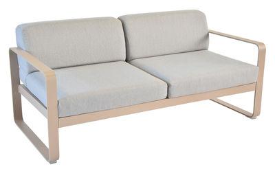 Canapé droit Bellevie 2 places / L 160 cm - Tissu gris - Fermob muscade,gris flanelle en métal