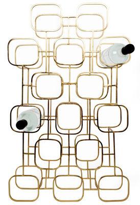 Casier à bouteilles Gavi / 15 bouteilles - XL Boom laiton en métal