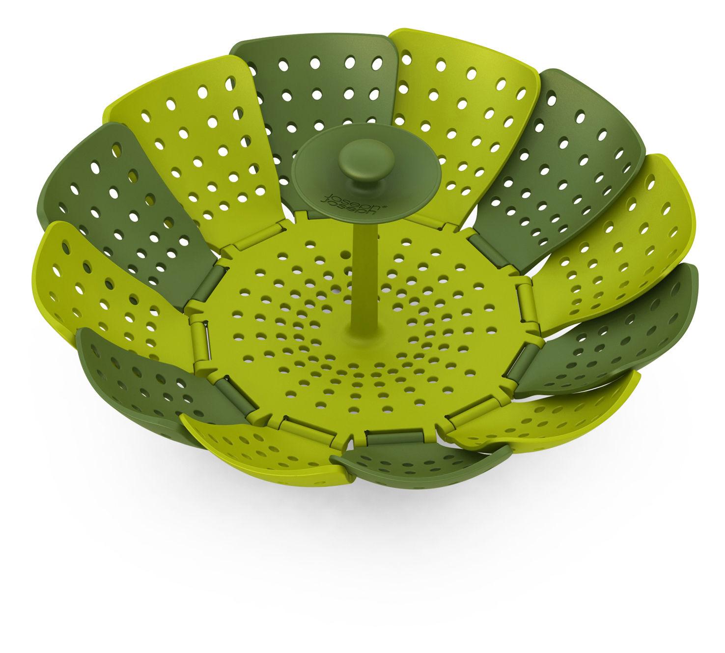Cucina - Utensili da cucina - Cesto per cottura a vapore Lotus di Joseph Joseph - Verde e verde chiaro - Polipropilene, Silicone