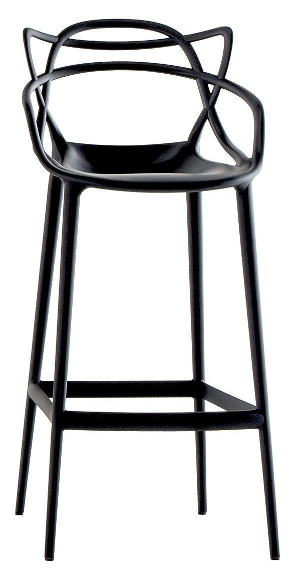 chaise de bar masters kartell noir l 50 x h 109 made. Black Bedroom Furniture Sets. Home Design Ideas