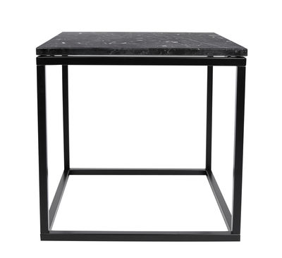 Furniture - Coffee Tables - Prairie Coffee table - / Marble - 50 x 50cm by POP UP HOME - Black marble / Black leg - Lacquered steel, Marble
