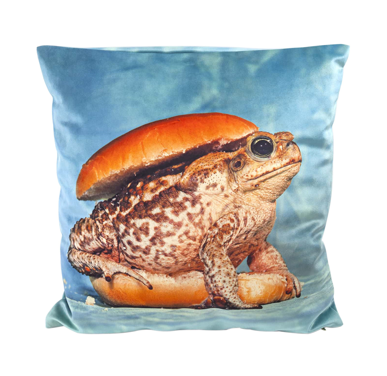 Déco - Coussins - Coussin Toiletpaper / Crapaud - 50 x 50 cm - Seletti - Crapaud / Bleu - Plume, Tissu polyester