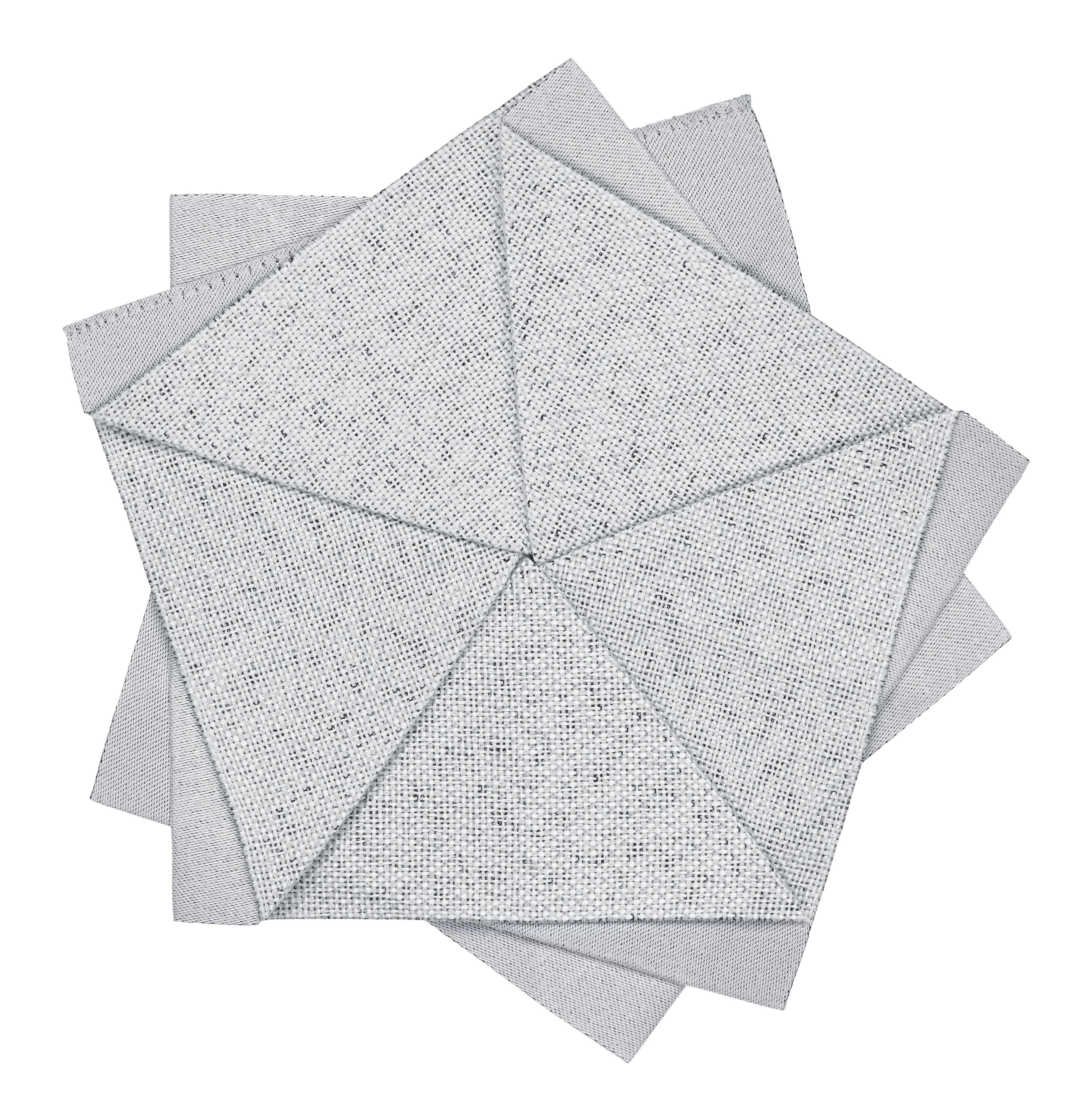 Arts de la table - Nappes, serviettes et sets - Décoration Iittala X Issey Miyake / Fleur de table - Ø 15 cm - Iittala - Gris clair - Polyester