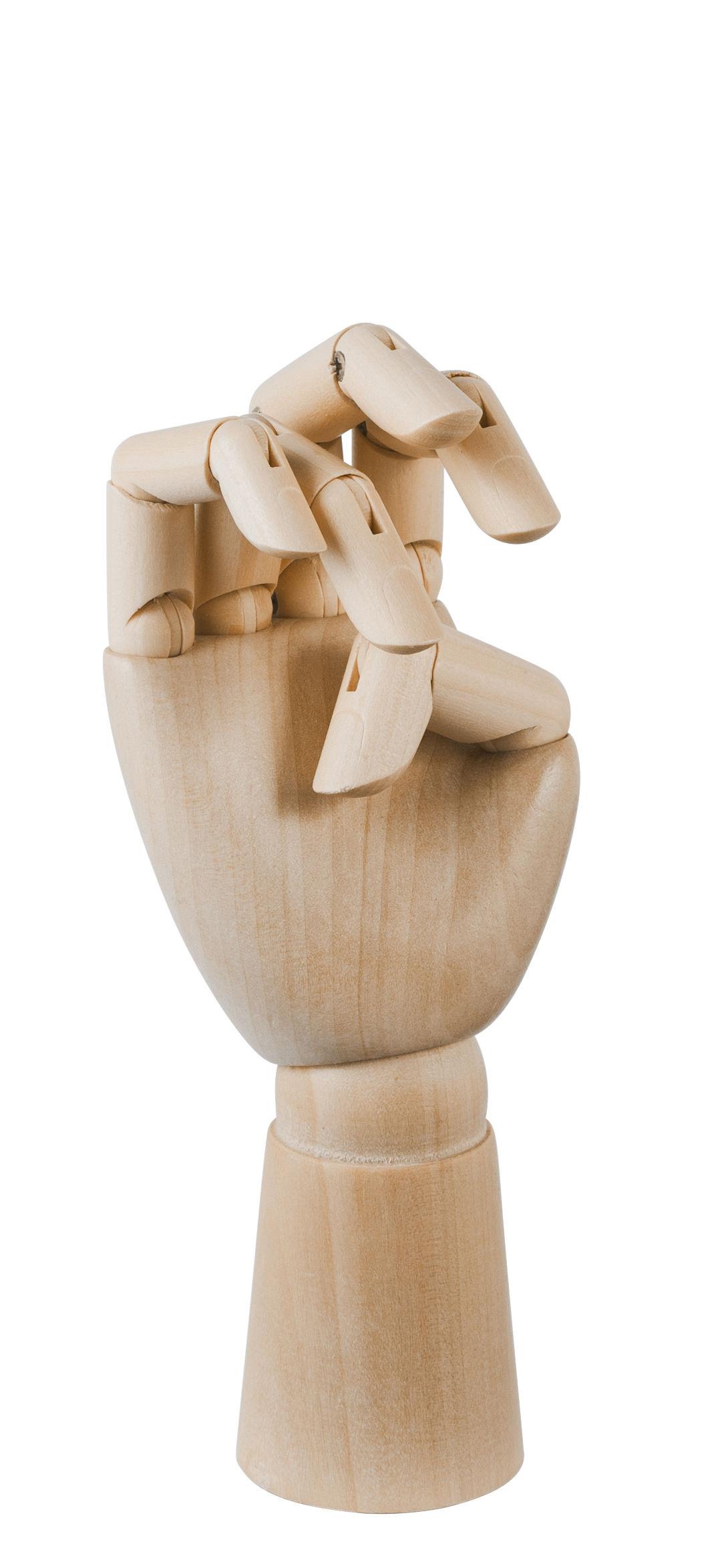 Dekoration - Dekorationsartikel - Wooden Hand Small Dekoration / H 13,5 cm - Holz - Hay - H 13,5 cm / Holz natur - Bois naturel