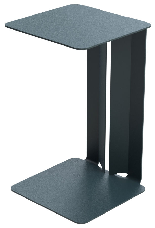 Furniture - Coffee Tables - Leste End table by Matière Grise - Anthracite - Painted steel