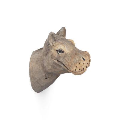 Furniture - Coat Racks & Pegs - Animal Hook - / Hippo -Hand sculpted by Ferm Living - Hippopotamus - Glass, Poplar wood