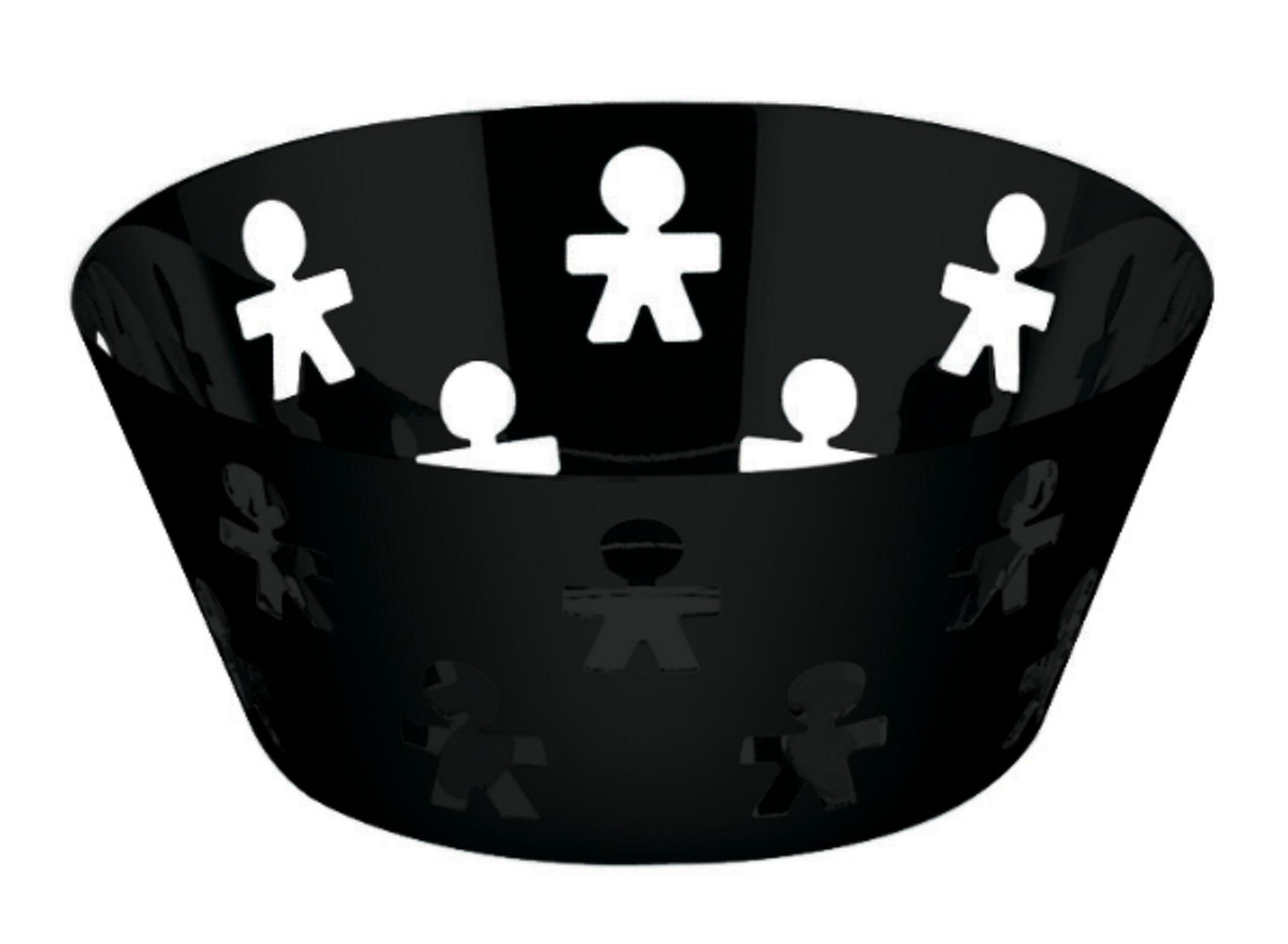 Tischkultur - Körbe, Fruchtkörbe und Tischgestecke - Girotondo Korb Ø 20,5 cm - A di Alessi - Schwarz - Ø 20,5 cm - rostfreier Stahl