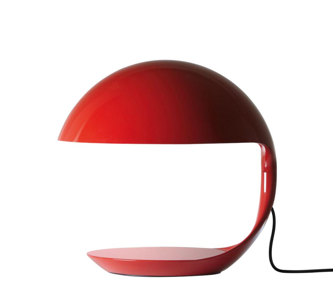 Lampada Da Tavolo Cobra Di Martinelli Luce Rosso Made In Design
