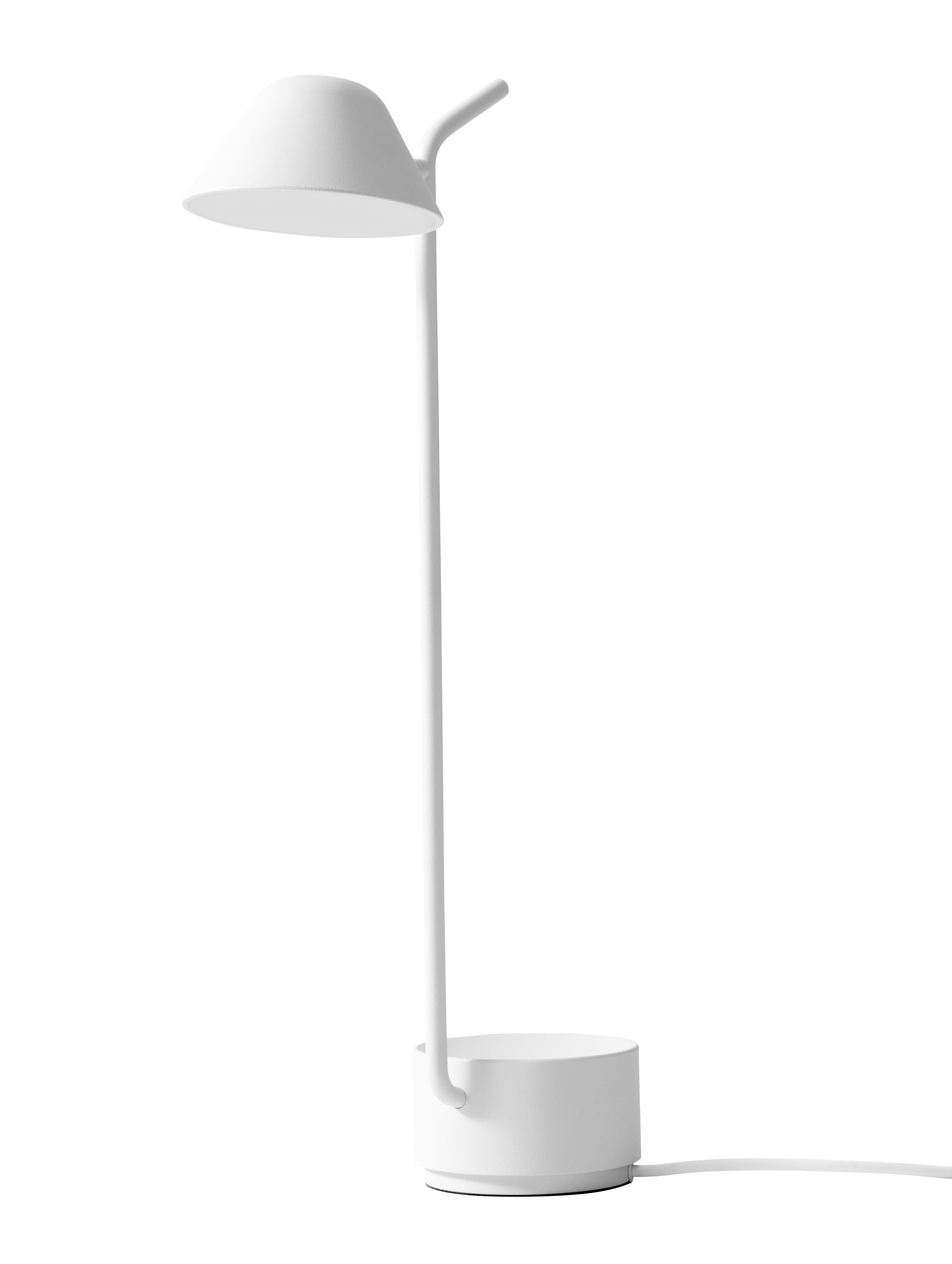 Luminaire - Lampes de table - Lampe de table Peek LED / H 45 cm - Menu - Blanc - Acier poudré