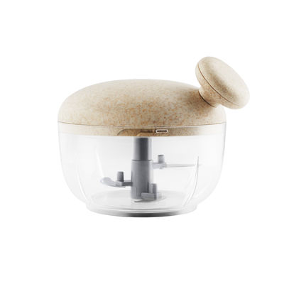Cucina - Utensili da cucina - Mini tritacarne manuale Green tool - / Frusta a scatto - Materiali durevoli di Eva Solo - Beige e trasparente - Acciaio, Materiale composito resistente, Plastica