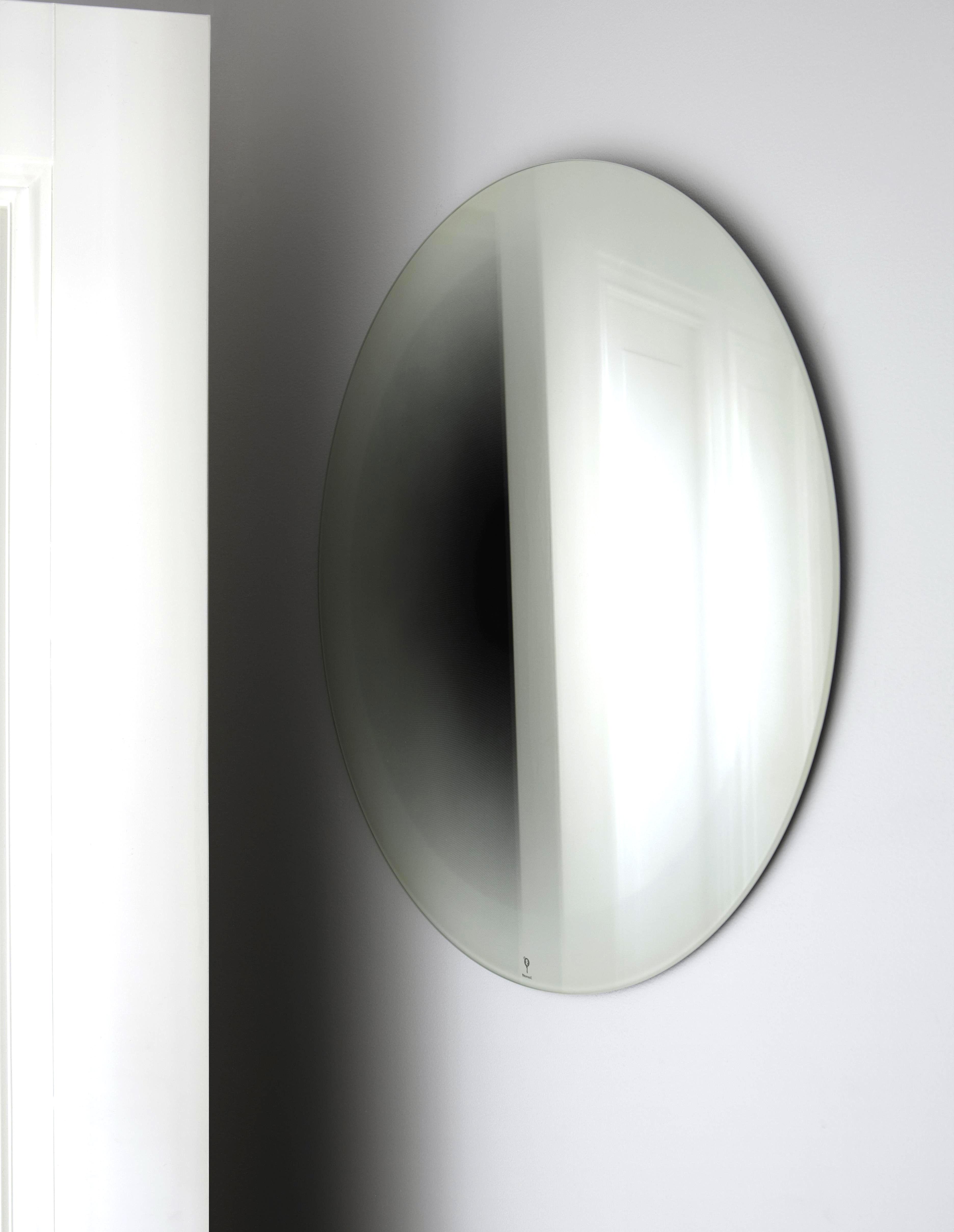 Mobilier - Miroirs - Miroir mural Fading Small / Ø 55 cm - ENOstudio - Blanc - Argent, Verre