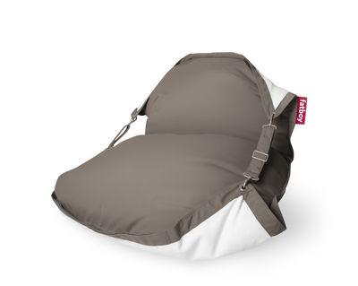 Mobilier - Poufs - Pouf flottant Original Floatzac / Sangles ajustables - Fatboy - Taupe - Billes polystyrène expansé, PVC, Tissu d'extérieur Sunbrella