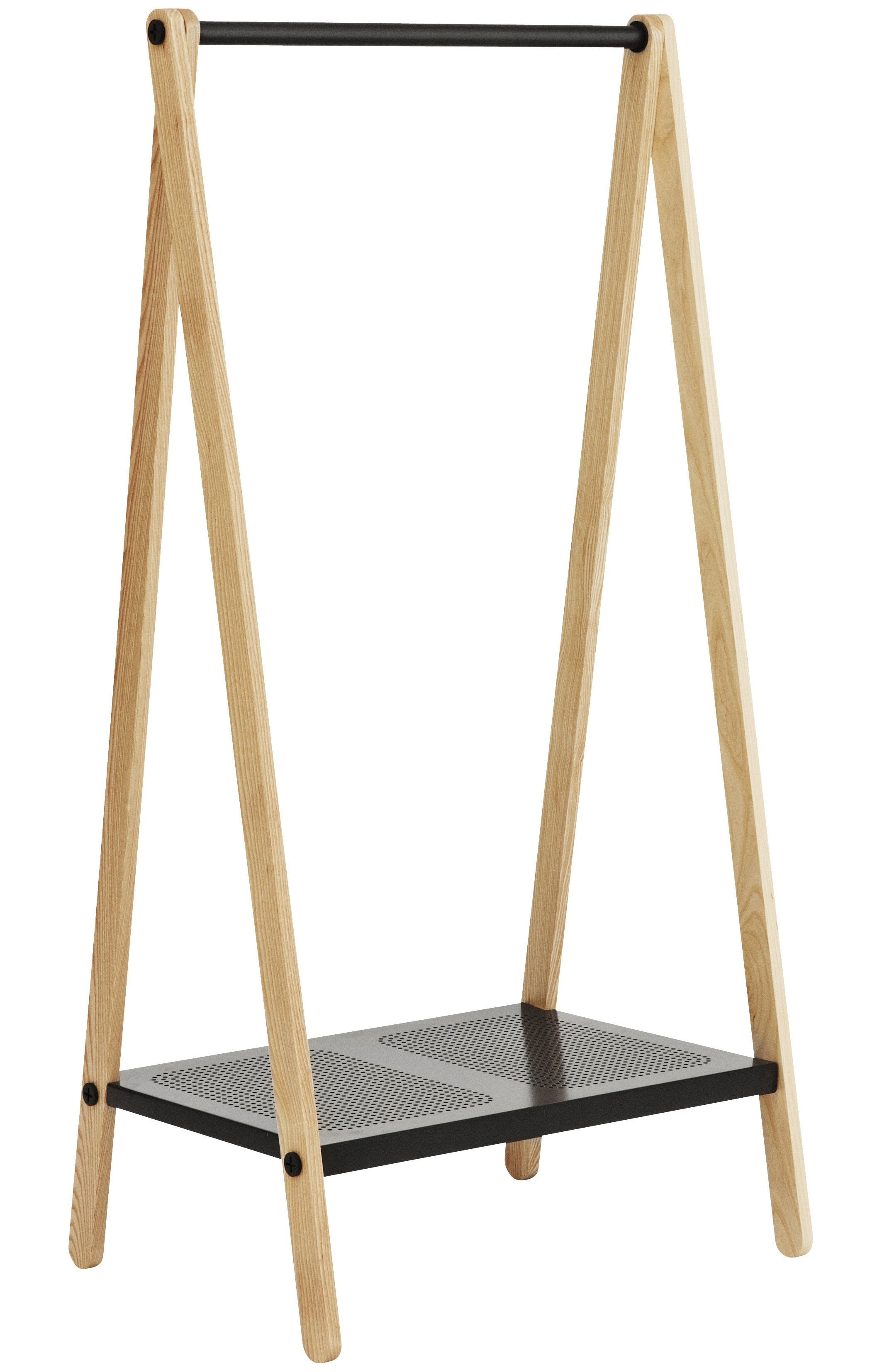 Furniture - Coat Racks & Pegs - Toj Rack - Small by Normann Copenhagen - W 74 cm - Grey - Ashwood, Metal