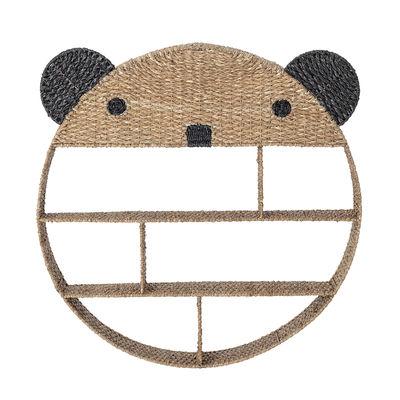 Möbel - Regale und Bücherregale - Panda Regal / Ø 91 cm - Bloomingville - Naturel & noir - Eisen, Pflanzliche Faser