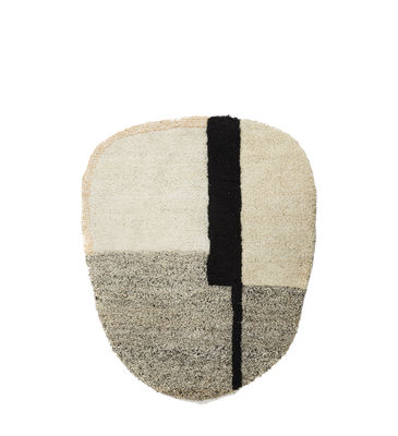 Decoration - Rugs - Nudo Small Rug - / 160 x 190 cm by ames - White, beige & pink - Virgin wool