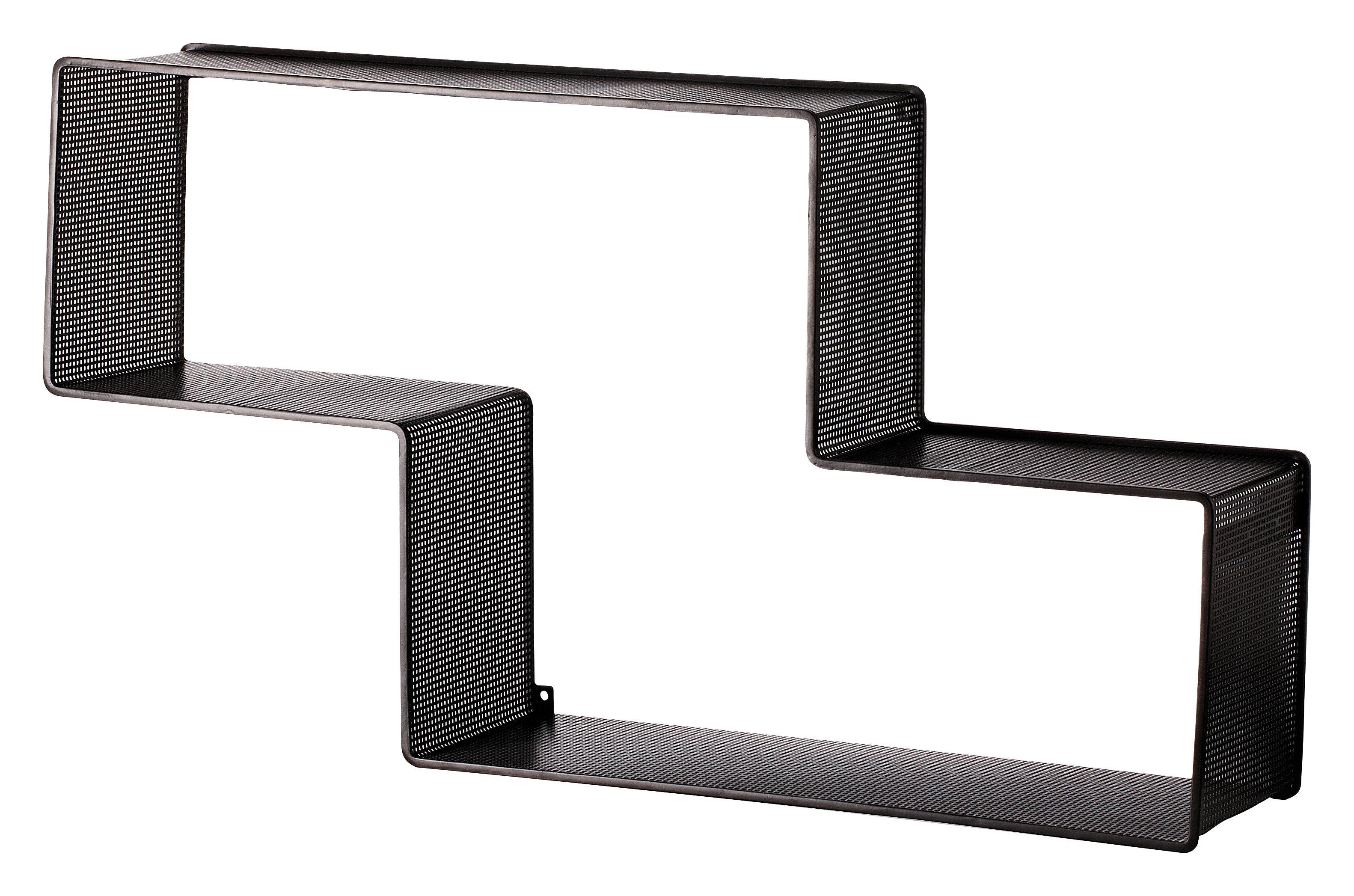 Arredamento - Scaffali e librerie - Scaffale Dedal - L 90 cm x H 49 cm - Rieditata 50' di Gubi - Nero - Acciaio inossidabile