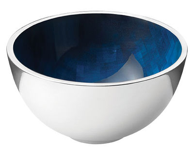 Tableware - Bowls - Stockholm Horizon Small dish - Ø 10 x H 5 cm by Stelton - Metal / Blue - Aluminium, Cold enamel