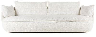 Möbel - Sofas - Bart Sofa / L 235 cm - Stoff - Moooi - Weiß gesprenkelt / Sockel glatt - Gewebe, Holz, Schaumstoff