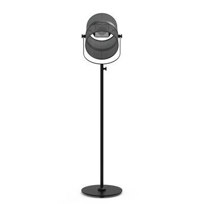 Leuchten - Stehleuchten - La Lampe Paris LED Solarleuchte / kabellos - Maiori - Schwarz / Ständer schwarz - bemaltes Aluminium, Gewebe