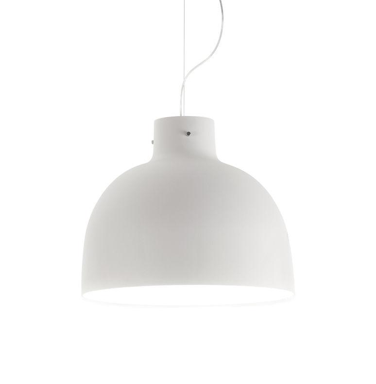 Illuminazione - Lampadari - Sospensione Bellissima Mate - / Ø 50 cm di Kartell - Bianco - Technopolymère thermoplatique