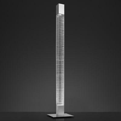 Leuchten - Stehleuchten - Mimesi LED Stehleuchte / Bluetooth - H 193 cm - Artemide - Transparent & verchromt - Metall, Plastikmaterial