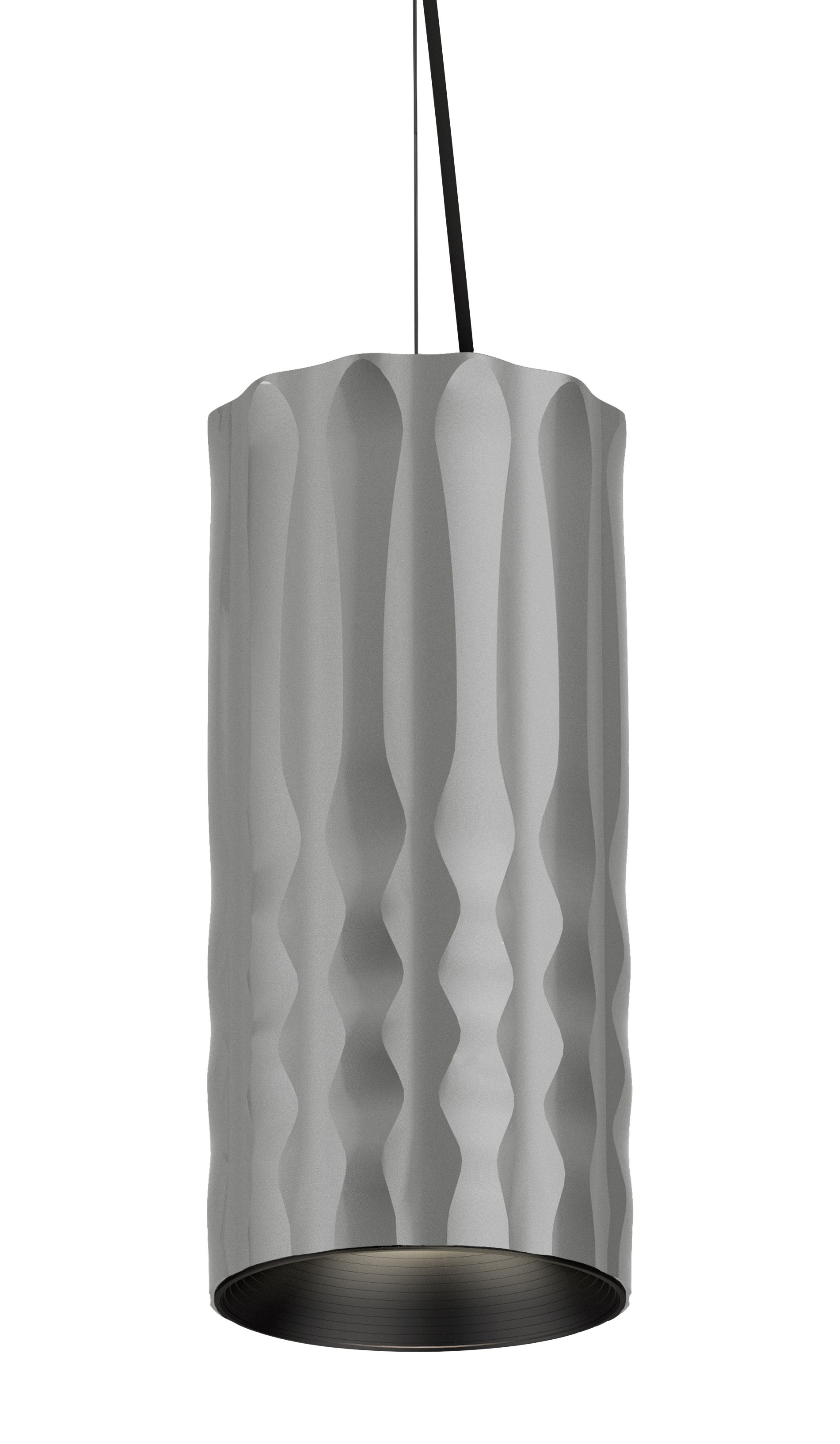 Luminaire - Suspensions - Suspension Fiamma / Ø 13 cm - Artemide - Gris - Métal