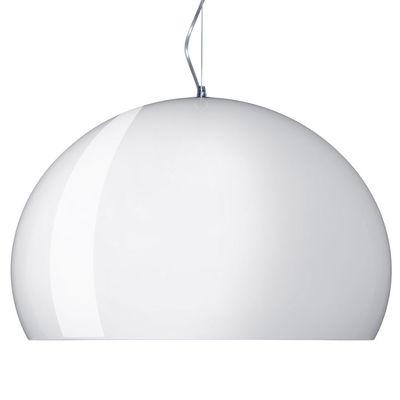Suspension FL/Y / Ø 52 cm - Kartell blanc opaque mat en matière plastique