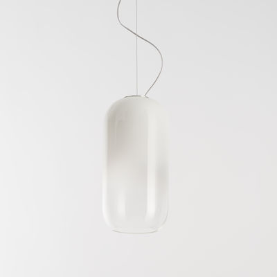 Suspension Gople / Verre - H 42 cm - Artemide blanc en verre