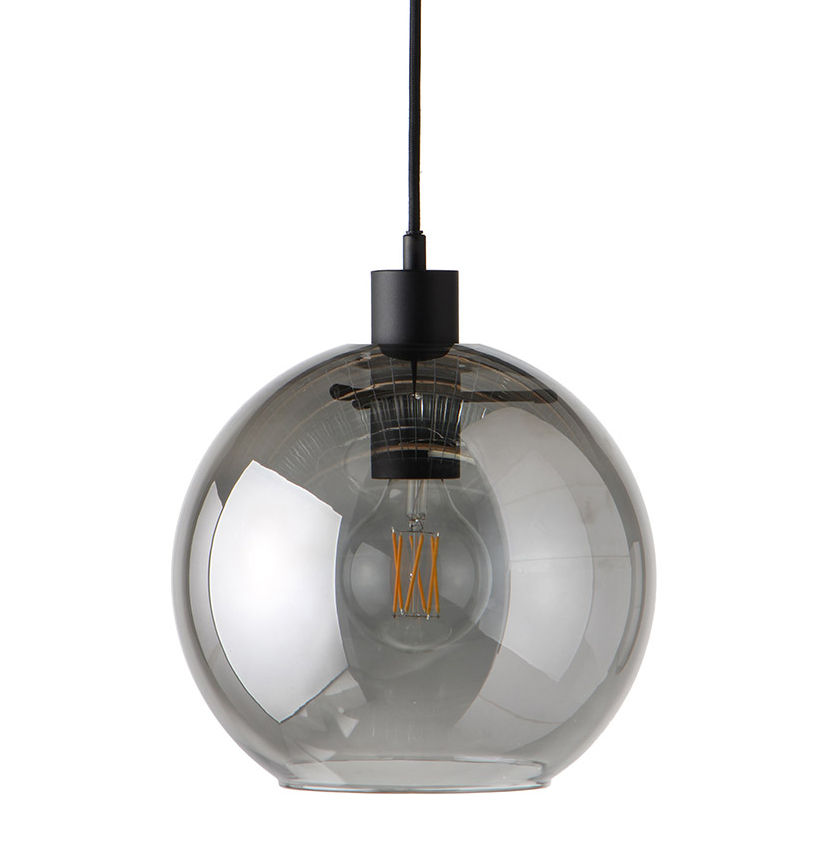 Luminaire - Suspensions - Suspension Kyoto / Ø 25 cm - Frandsen - Gris fumé - Verre