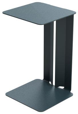 Table d'appoint Leste - Matière Grise gris/noir en métal