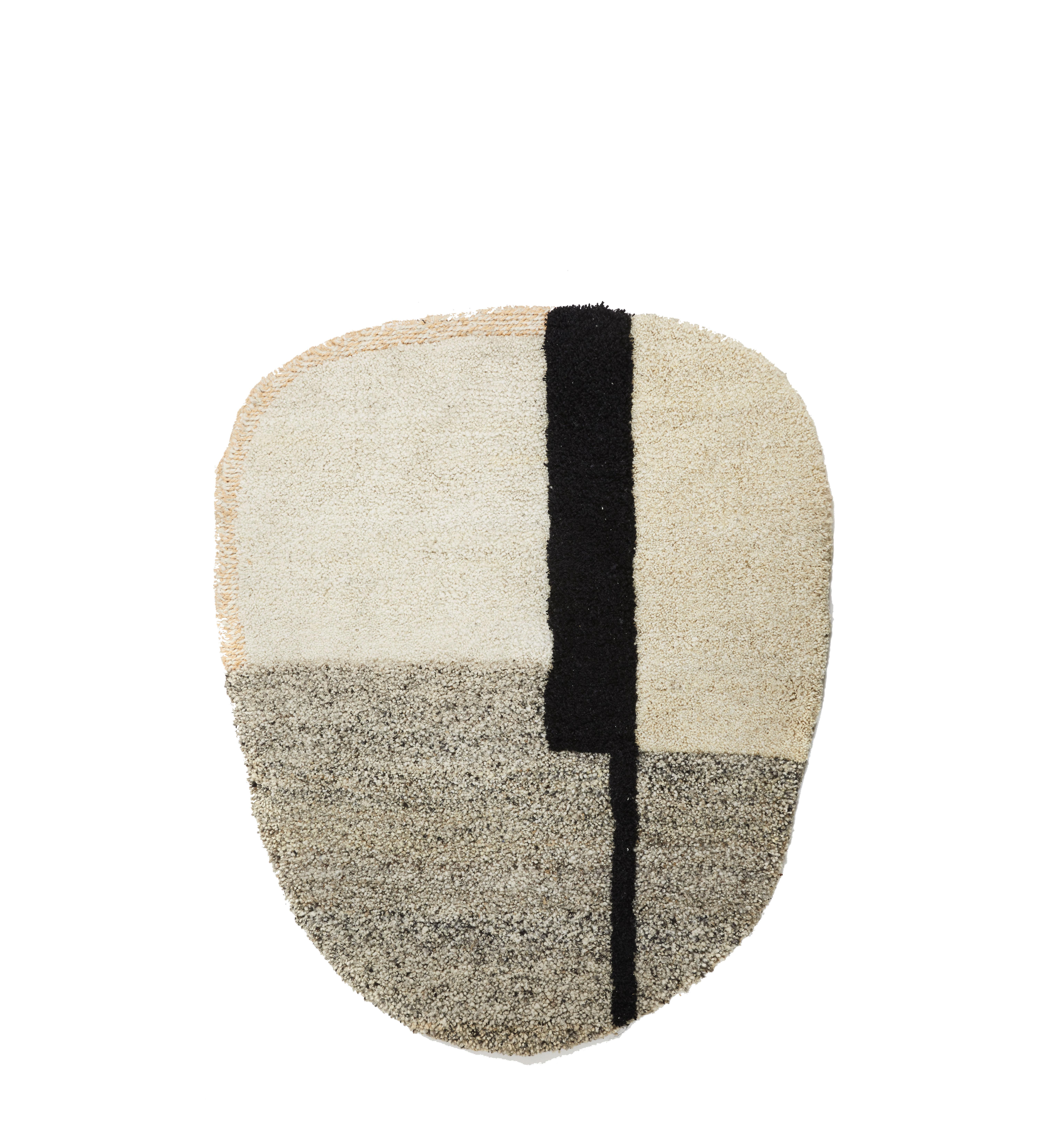 Interni - Tappeti - Tappeto Nudo Small - / 160 x 190 cm di ames - Bianco, beige & rosa - Laine vierge