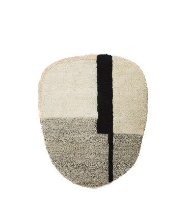 Dekoration - Teppiche - Nudo Small Teppich / 160 x 190 cm - ames - Weiß, beige & rosa - Laine vierge