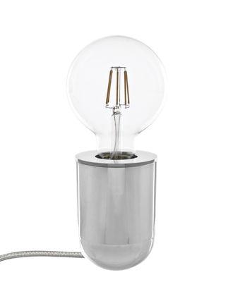 Leuchten - Tischleuchten - Nara Tischleuchte / Wandleuchte - H 10 cm - Pop Corn - Nickel, poliert - Massives Messing poliertes Nickel-Finish