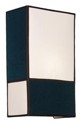 Lighting - Wall Lights - Radieuse Large Wall light - / Not electrified - Velvet by Maison Sarah Lavoine - Velvet / Blue - Cotton canvas, Metal, Velvet