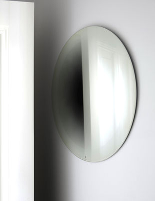 Furniture - Mirrors - Fading Small Wall mirror - Ø 55 cm by ENOstudio - White - Glass, Silver